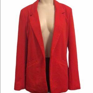 Woman's Long Sleeve Red Blazer w/ Pockets